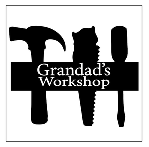 Grandad's workshop plaque vinyl