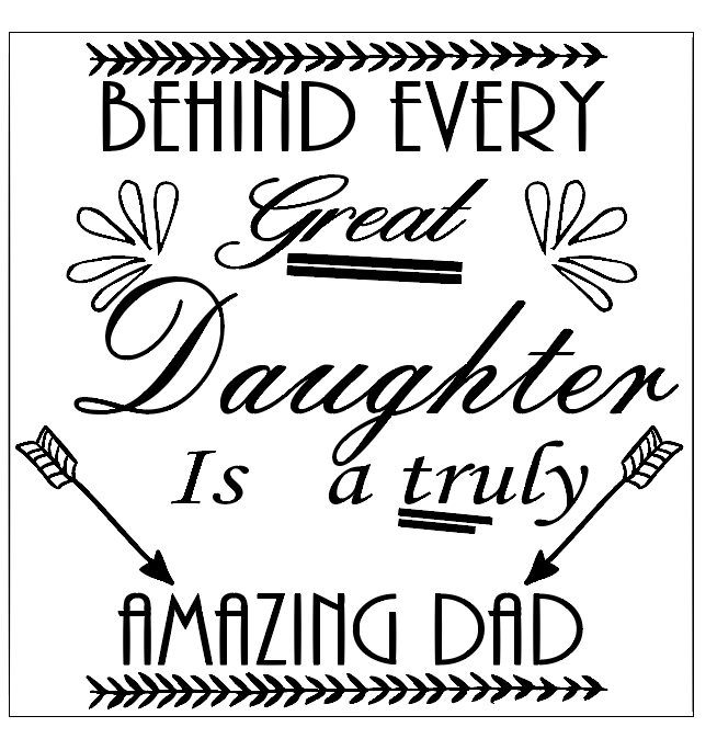 Amazing dad father's day quote frame vinyl