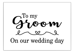 Groom wedding day box vinyl