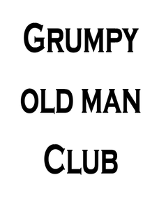 Grumpy old mans club pint glass vinyl