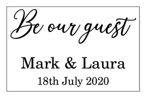 Be our guest, wedding guestbook vinyl