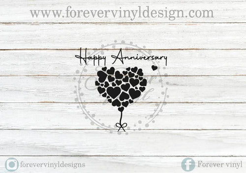 Happy Anniversary candle vinyl