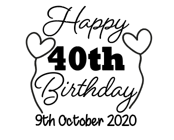 Personalised happy birthday glass vinyl decal