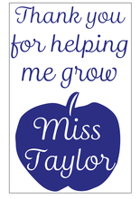 Load image into Gallery viewer, Teacher thank you notebook vinyl - can be personalised