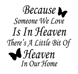Because someone in heaven quote frame vinyl