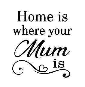 Home is where your mum is mug vinyl