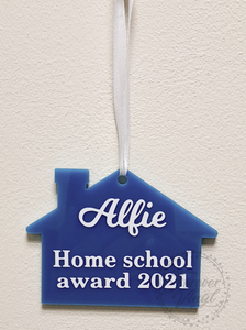 Personalised Home school award plaque vinyl