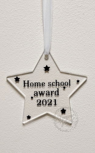 Home school award plaque vinyl