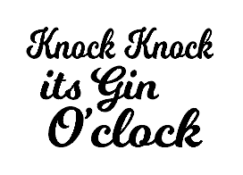Gin O'clock gin/wine glass vinyl