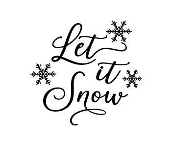 Let it snow quote bauble vinyl