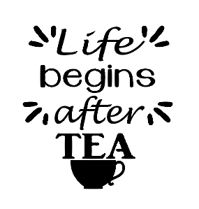 Life begins after tea mug vinyl