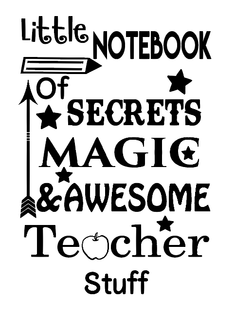 Little teacher notebook vinyl