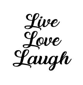 Live love laugh candle vinyl