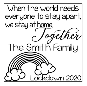 Personalised we stay together quote plaque vinyl
