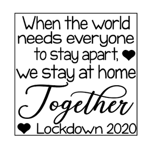 We stay together quote plaque vinyl