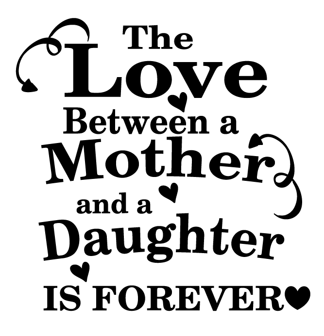 Love between mother & daughter quote frame vinyl