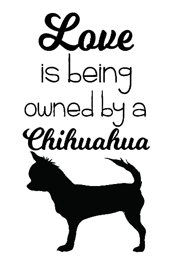 Chihuahua quote wine bottle vinyl