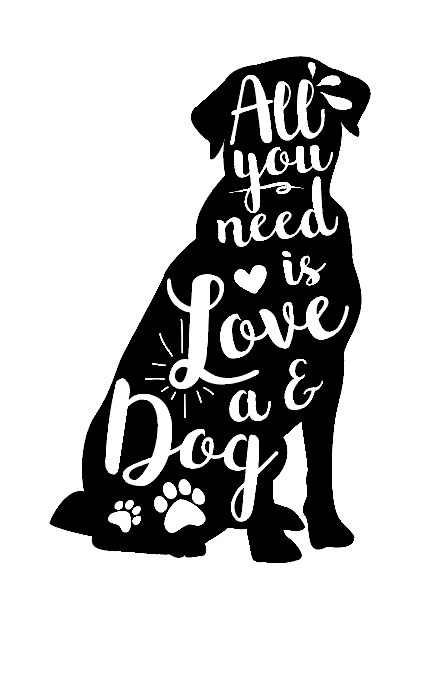 All you need is love & a dog wine bottle vinyl
