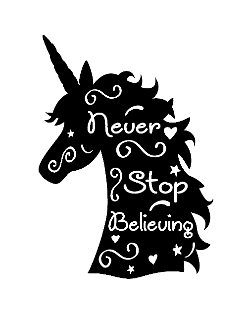 Never stop believing wine bottle vinyl