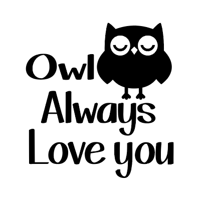 Owl always love you mug vinyl