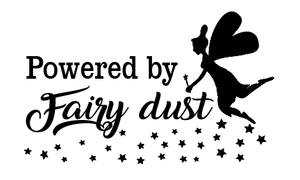 Powered by fairy dust car decal