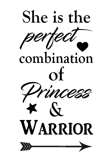 Princess warrior wine bottle vinyl