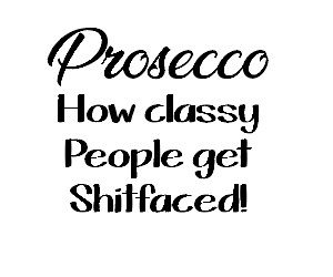 prosecco wine glass vinyl