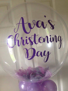 Christening day personalised balloon vinyl