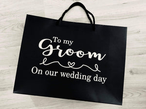 To my Groom wedding day bag vinyl