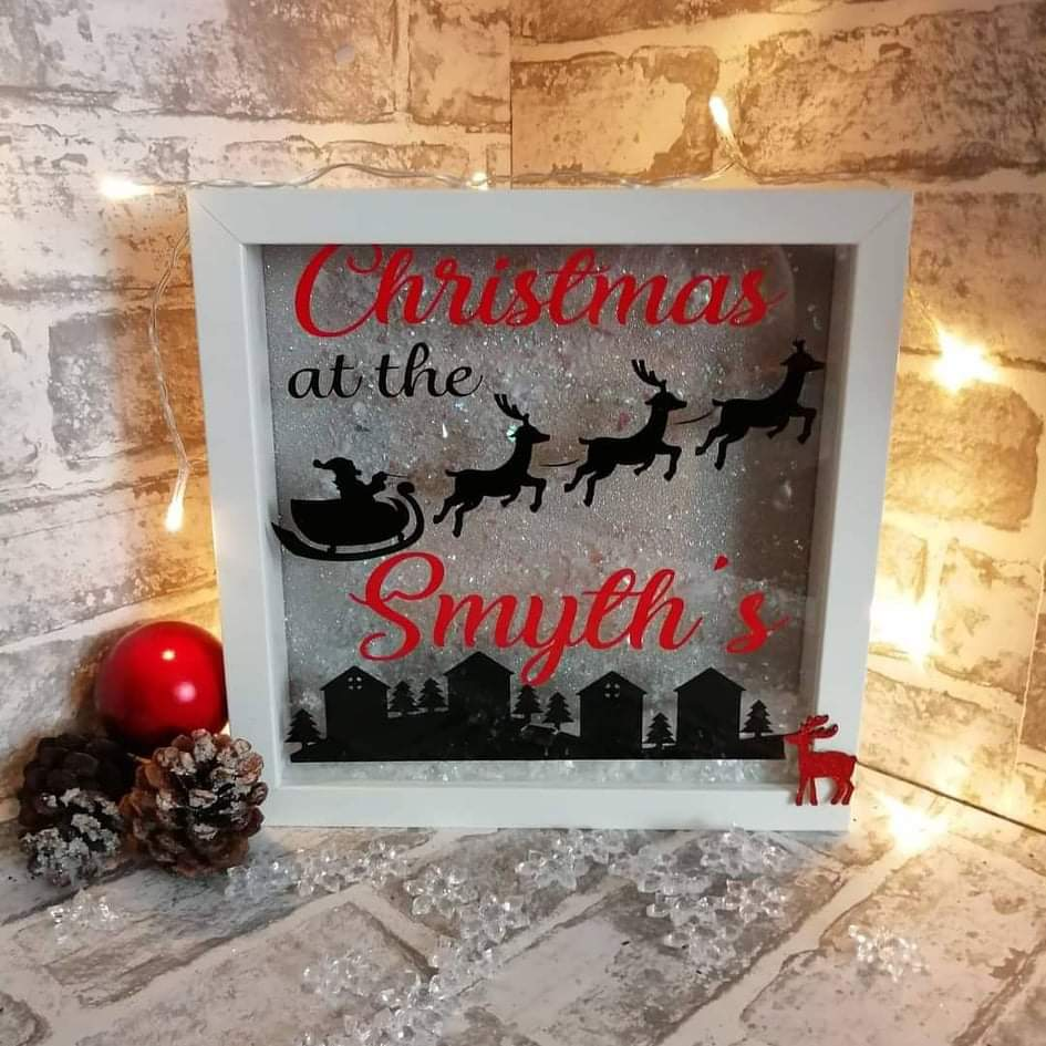 Christmas at the... personalised frame vinyl
