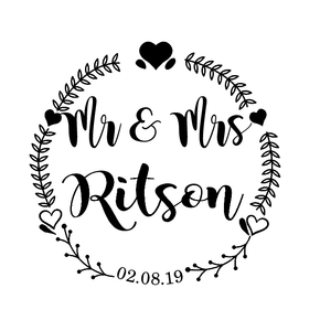 Mr & Mrs notebook vinyl