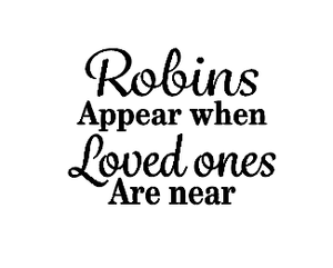 Robins appear quote bauble vinyl - style 2