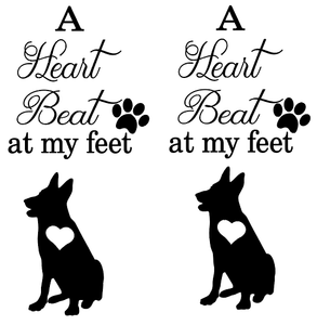HTV Heart beat german shepherd vinyl