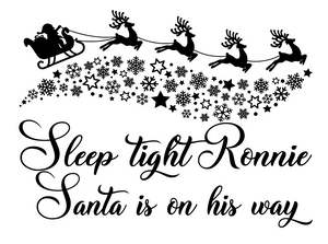 HTV Sleep tight Santa pillow