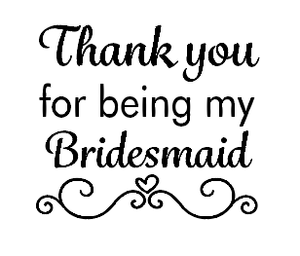 Thank you bridesmaid candle vinyl decal