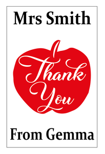 Thank you teacher notebook vinyl - can be personalised