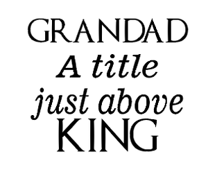 Grandad a title just about king vinyl