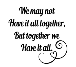 Together quote candle vinyl
