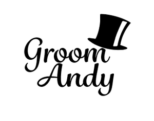 Grooms party name & role glass/flask vinyl decal