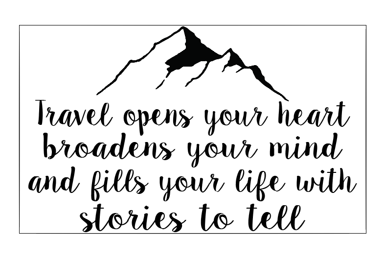Travel quote plaque vinyl