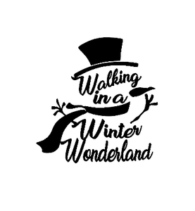 Winter wonderland snowman Christmas vinyl