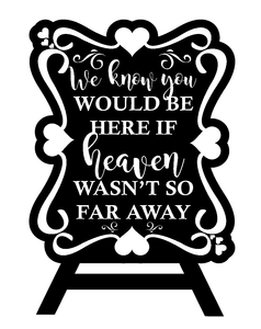 We know you would be here quote plaque vinyl