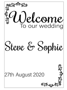 Welcome to our wedding, sign vinyl
