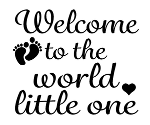 Welcome baby balloon vinyl