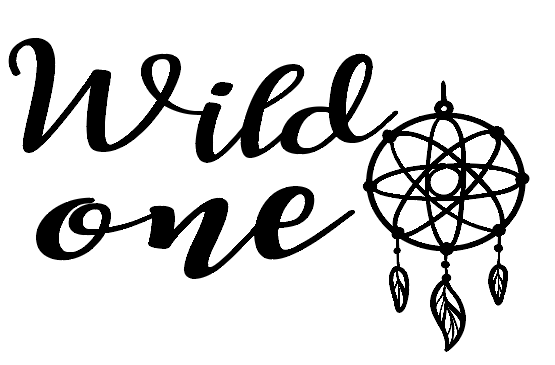 Wild one car decal
