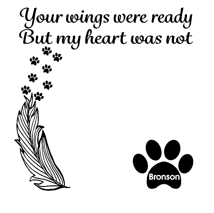 Your wings were ready pet memorial quote frame vinyl