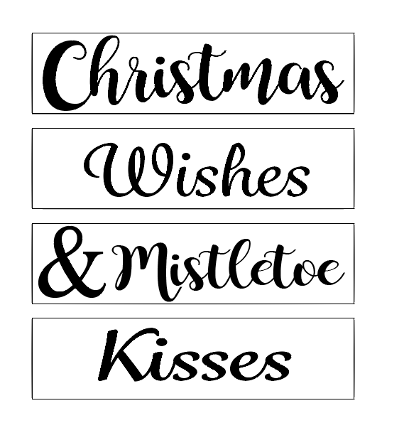 Christmas wishes quote plaque vinyl