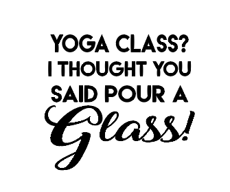 Yoga glass wine/gin glass vinyl