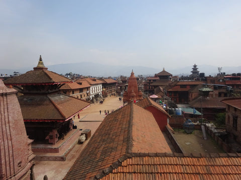 Building rooftops in a town in Nepal