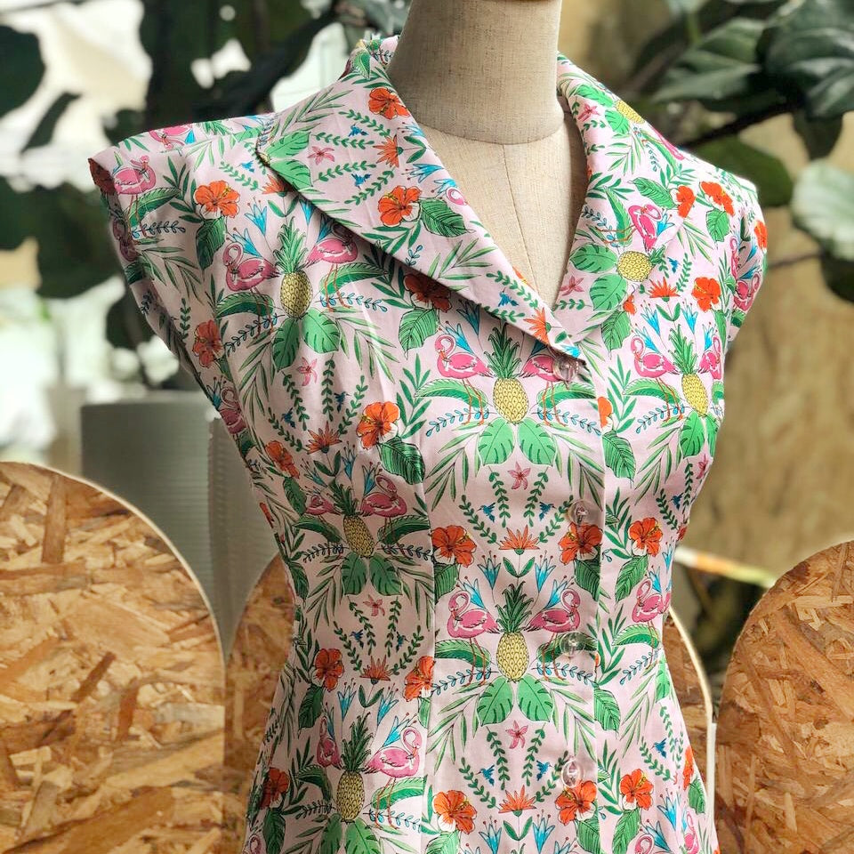 Pre-Order: Rockabilly Vintage Shirt in Flamingo